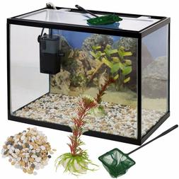 26 Litre Glass Aquarium Fish Tank Starter Kit Set Filter Pum