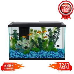 5-Gallon Fish Tank LED Light Aquarium Starter Kit Aqua Pet E
