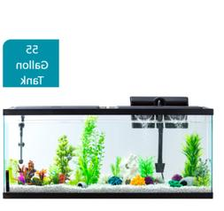 55 Gallon Aquarium Fish Tank LED Light Full Starter Kit Tetr