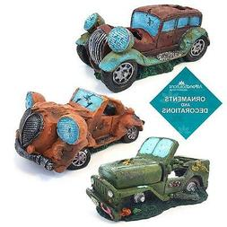 aquarium fish tank ornament car jeep decoration