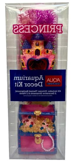 Aqua Culture Aquarium Kit Princess Decor Pink Background Pla