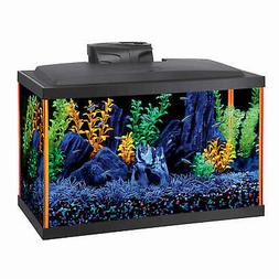 "Aqueon NeoGlow LED Aquarium Kit 10 Gallon Orange 20.5"" x 10."