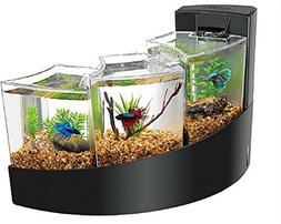 AQUEON BETTA FALLS AQUARIUM KIT IN BLACK 2-GALLON CAPACITY