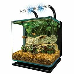 MarineLand Contour Glass Aquarium Kit with Rail Light 3-Gall