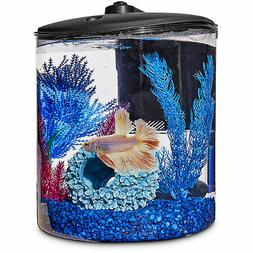 Imagitarium Cylindrical Betta Fish Desktop Tank Kit, 1.6 gal