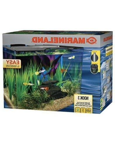 aquarium fish tank kit 3 gallon led
