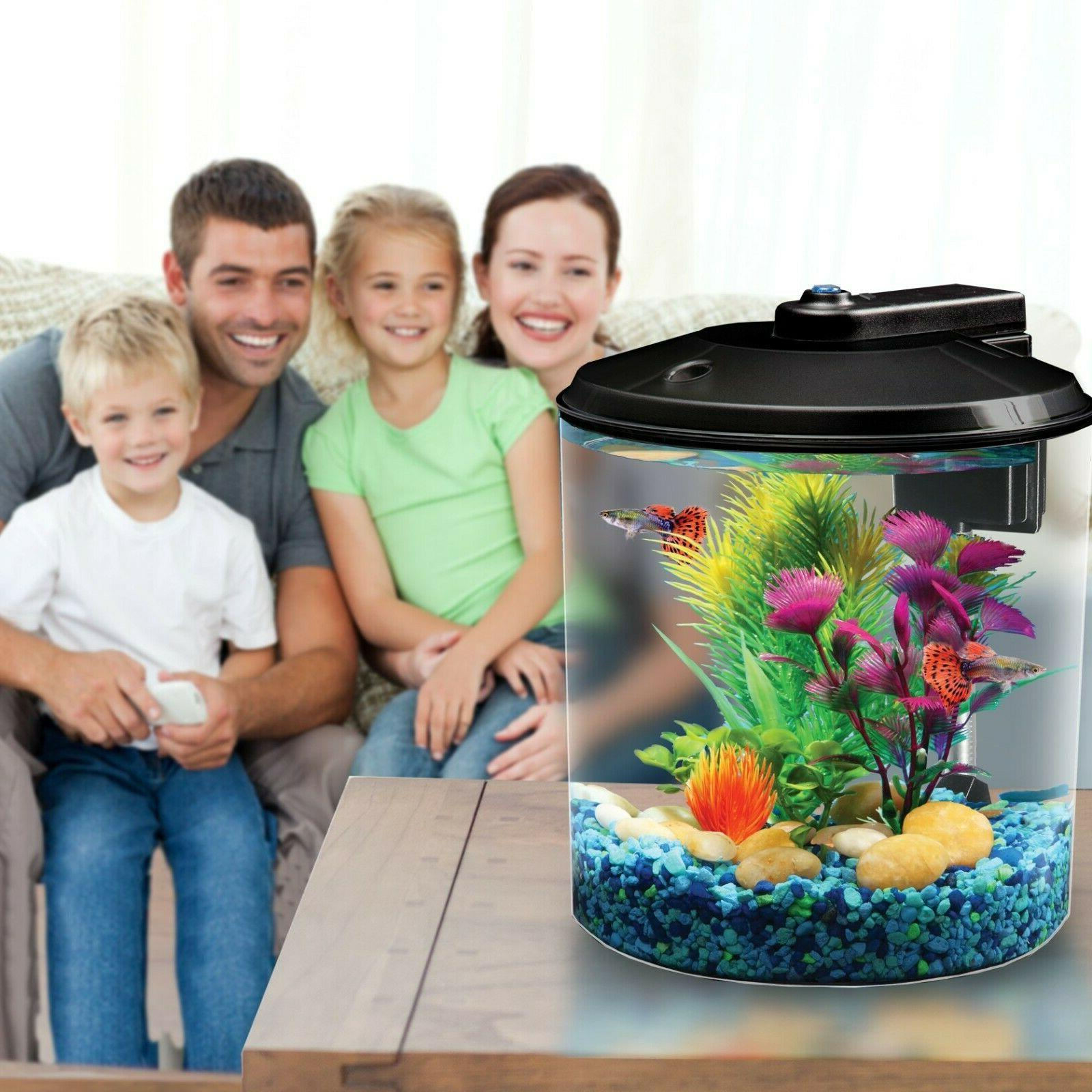 Aquarium LED Internal Filter Home Betta Tank