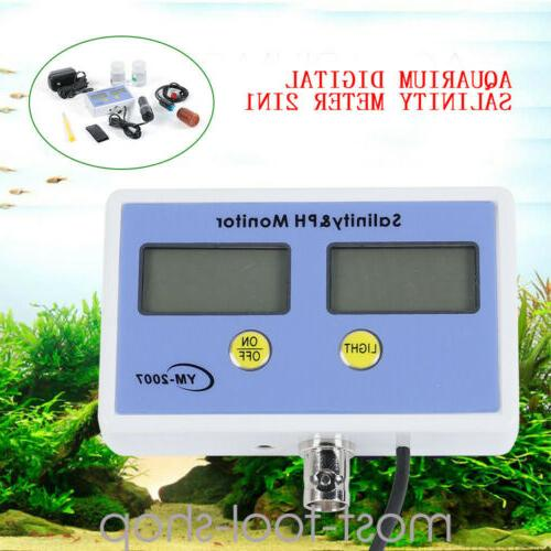 electronic ph and salinity monitor meter tester