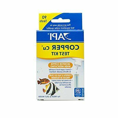 API AQUARIUM PHARMACEUTICALS FW & SW COPPER TEST KIT 90 TEST