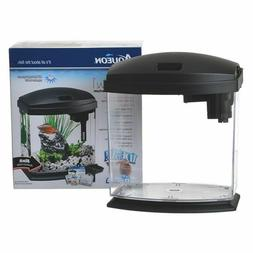 Aqueon LED MiniBow Black Desktop Aquarium Kit in 1 Gallon,2.