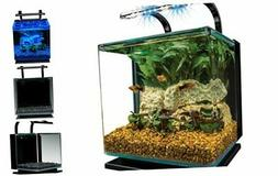 marineland contour glass aquarium kit with rail