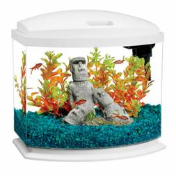 Aqueon MiniBow LED Desktop Fish Aquarium Kit, White