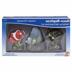 Penn Plax Deco Replicas Tropical 3 Piece Aquarium Decorating