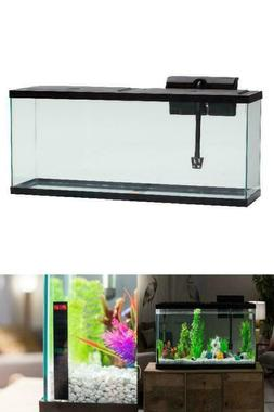 Pet Fish Tank 55 Gallon Glass Aquarium Starter Kit LED Light