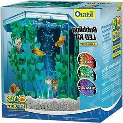 Hexagon Aquarium Tetra Tank LED Bubbler Kit Gallon Gold Fish