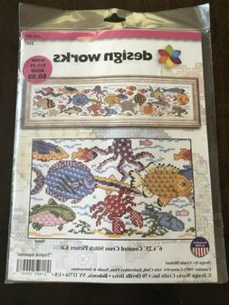 Tropical Aquarium   picture kit in counted cross stitch