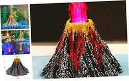 Uniclife Aquarium Volcano Ornament Kit with Air Stone Bubble