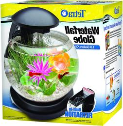 Tetra Waterfall Globe Aquarium Kit Bulit In Filtration, Blac
